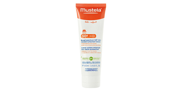 Mustela SPF 50+ Broad Spectrum Mineral Sunscreen Lotion | Sheknows.com
