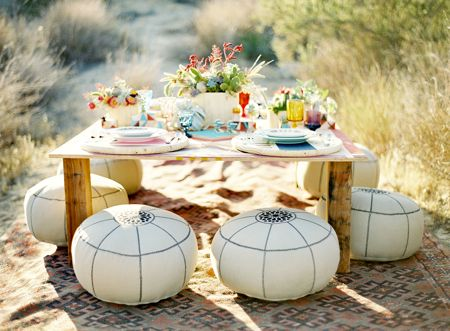 Release your inner hippie. Get the Bohemian look outdoors.