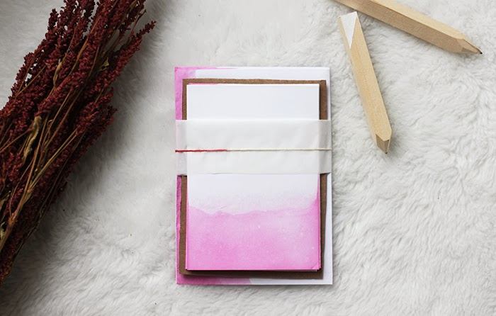 Dip-dyed stationery