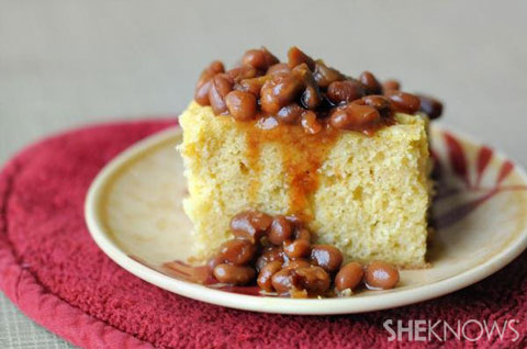 baked beans and cornbread