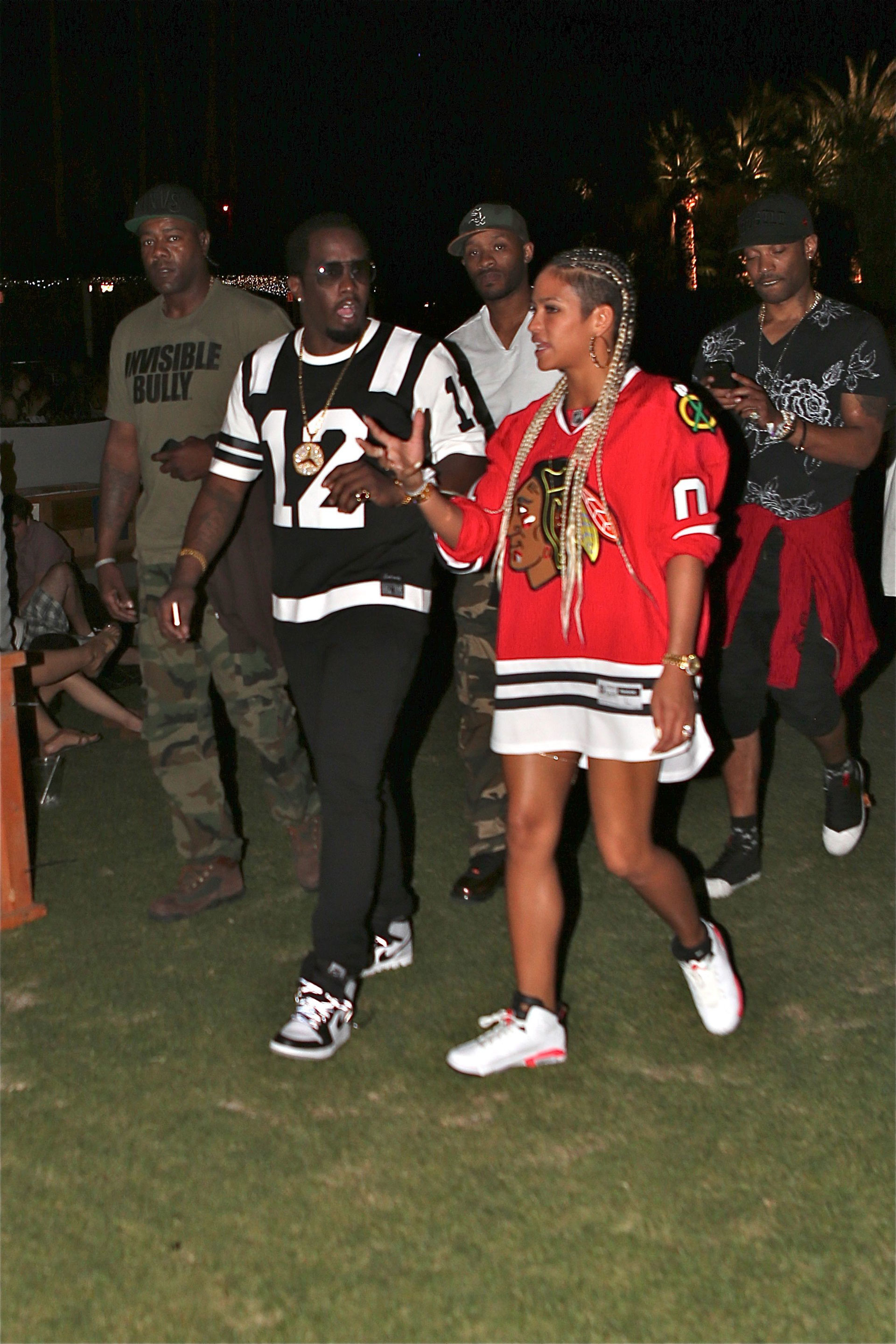 P. Diddy & Cassie's Sports Jerseys at Coachella