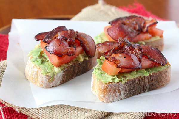the buttered toast with jelly. This avocado, bacon and tomato toast ...