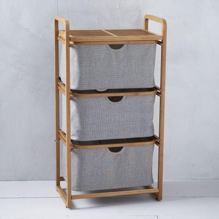 Bamboo Laundry Triple Hamper