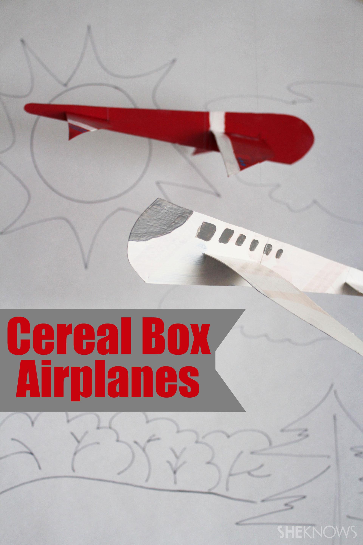 DIY cereal box airplane