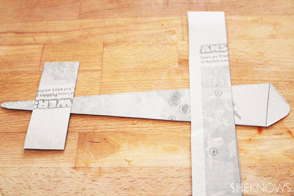 Cereal Box Airplane: Cut these strips to your desired length