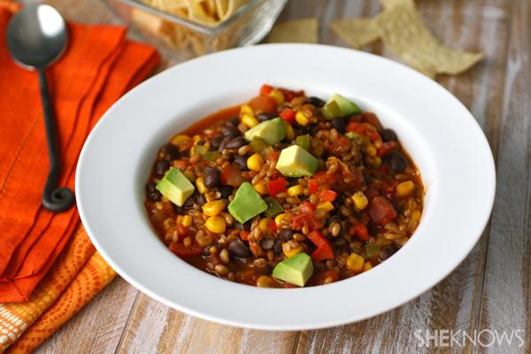 Vegan wheat berry and chili recipe