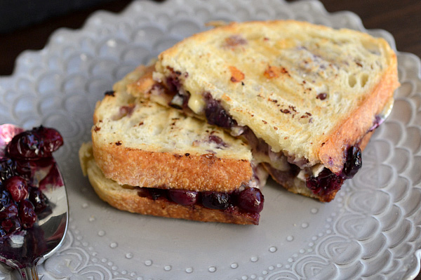 Brie, blueberry and balsamic grilled cheese