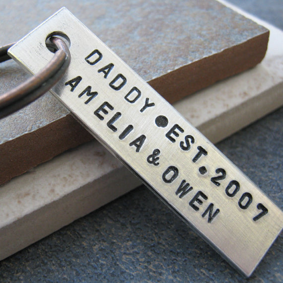 one-of-a-kind daddy keychain