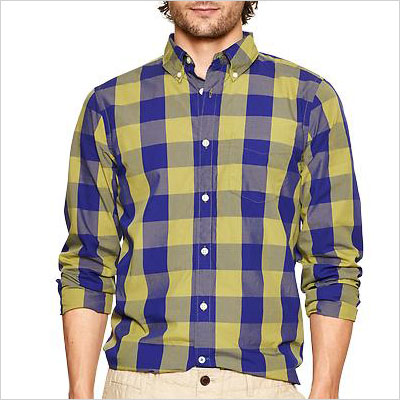 2. Super-washed plaid shirt