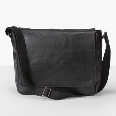 3. Leather messenger bag