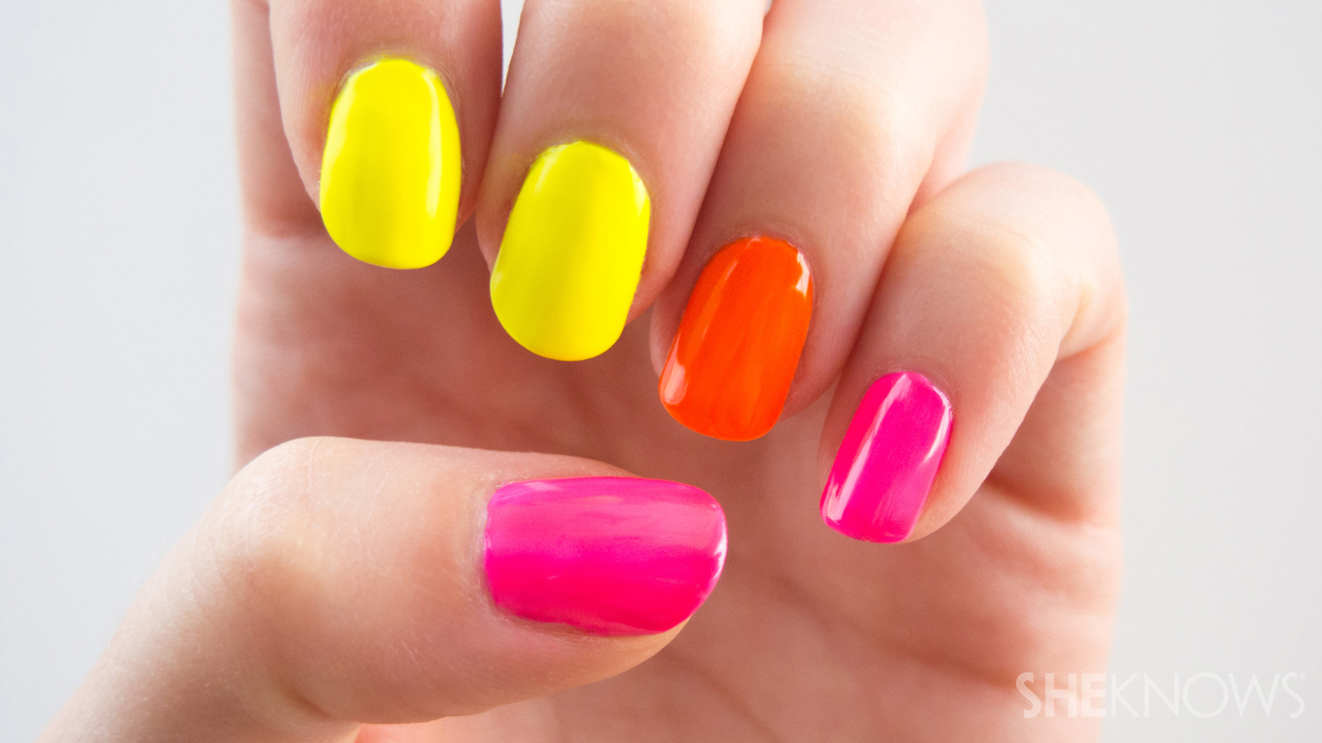 The secret to neon nail polish