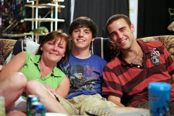 Rebecca Brooks (mother), Jeff Markiewicz (brother), and Jacob Markiewicz