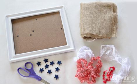 American flag DIY supplies