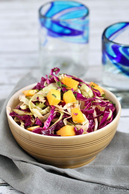 Spicy lime and mango slaw