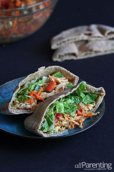 allParenting Thai chicken pita sandwiches