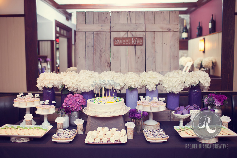 decorated Mason jars party setup