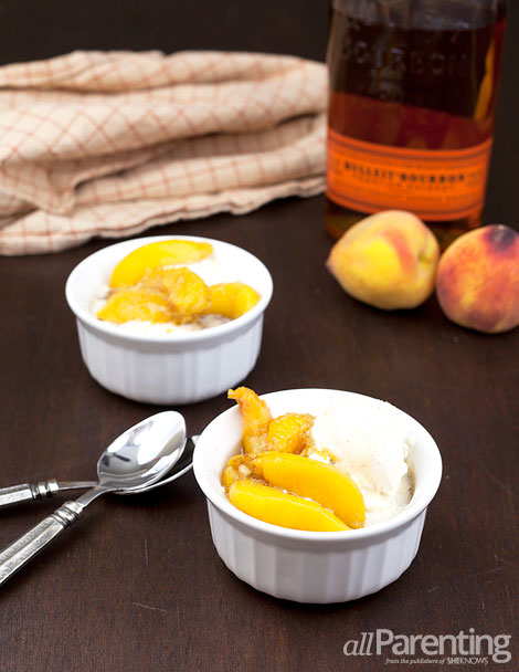allParenting Bourbon poached peaches