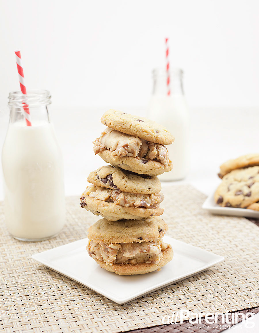 allParenting Chocolate chip cookie peanut butter fudge ice cream sandwich