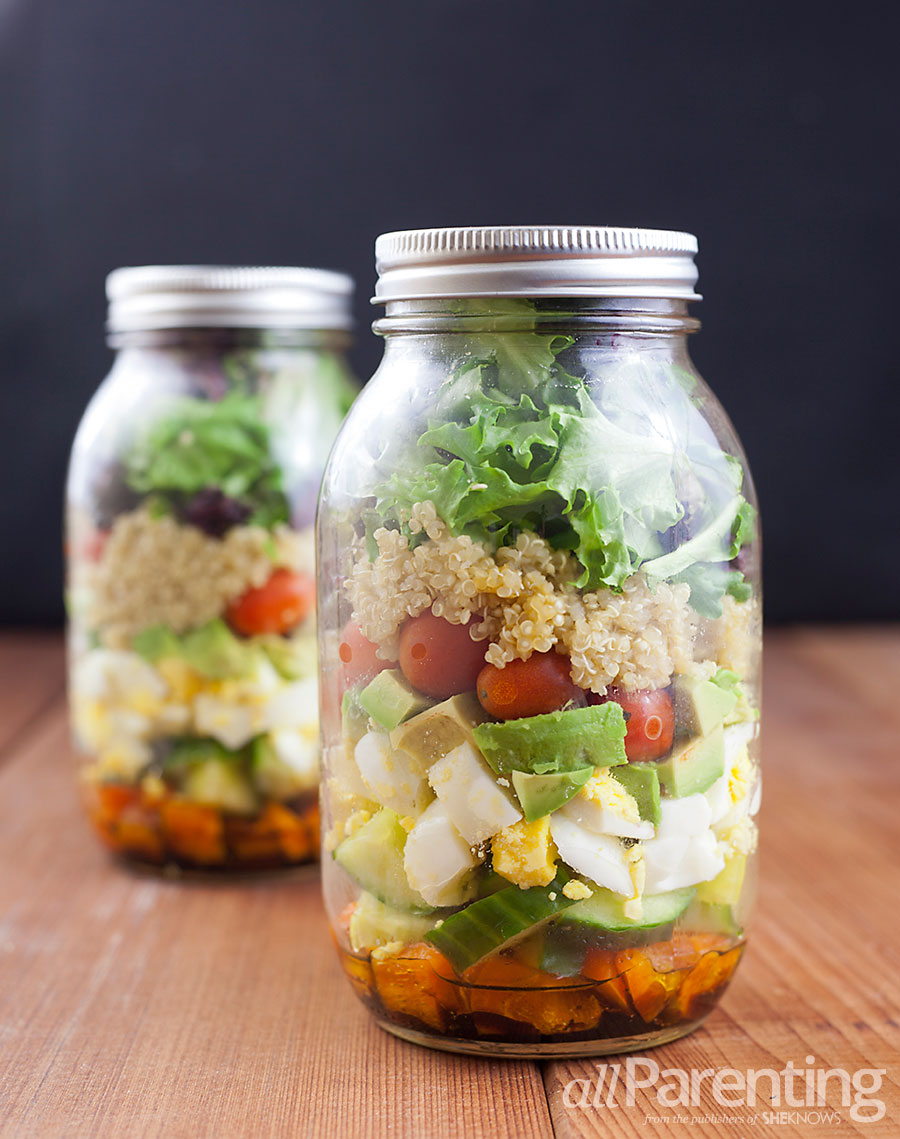 allParenting Mason jar layered quinoa salad