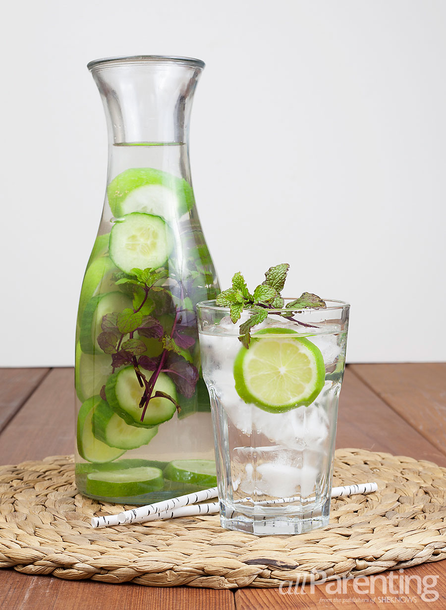 allParenting Cucumber, mint and lime infused water