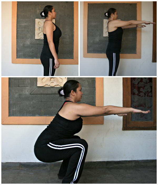 At home exercises- Squats