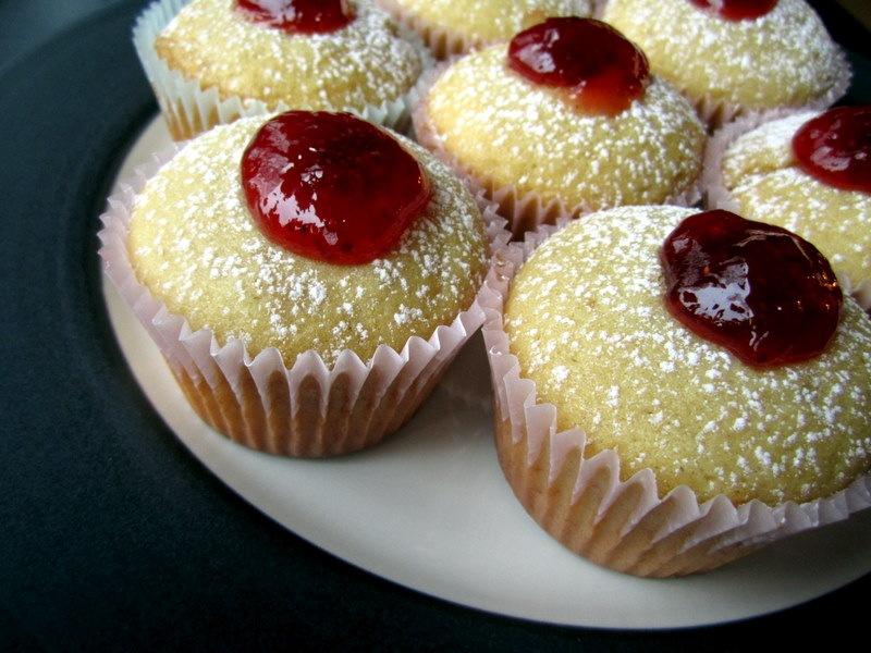 Jelly-filled doughnut cupcake