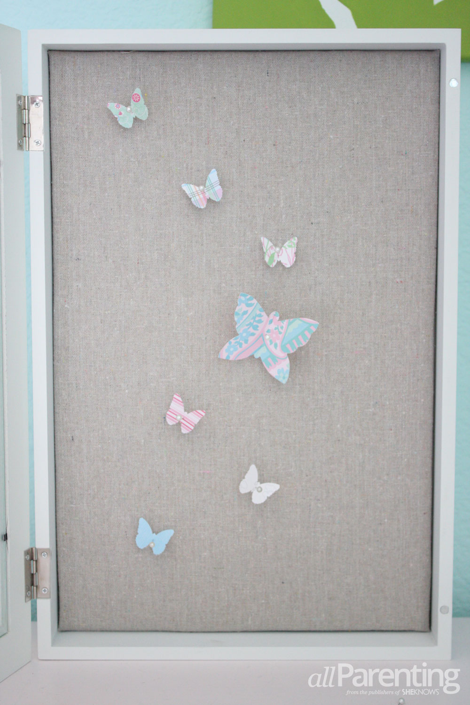 allParenting Faux butterfly specimen art