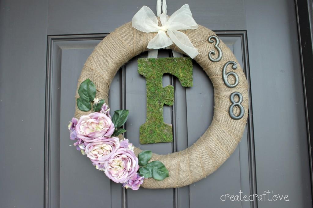 DIY House numbers-DIY address wreath