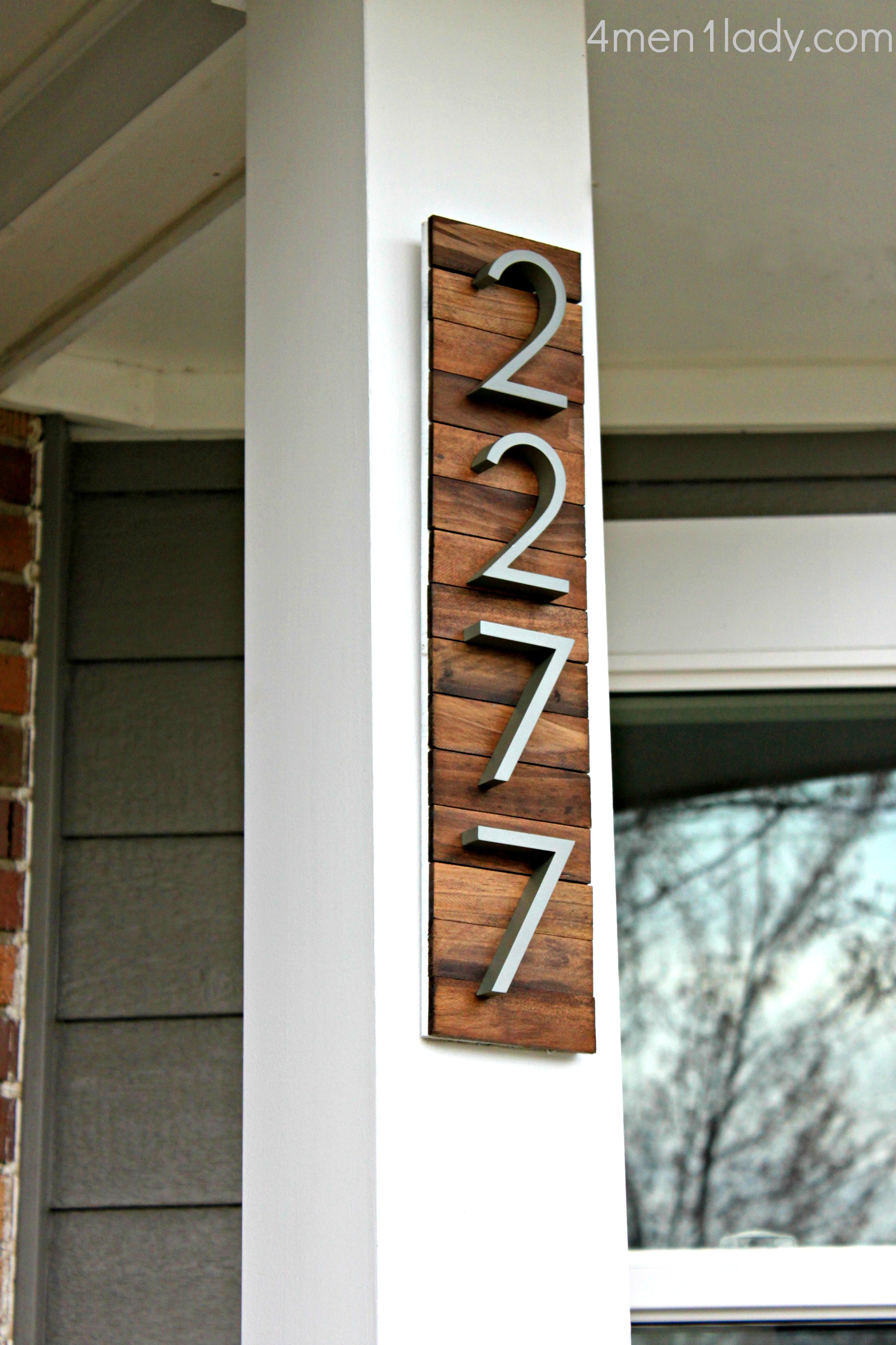 Creative diy house number ideas - House number plaque ideas ...