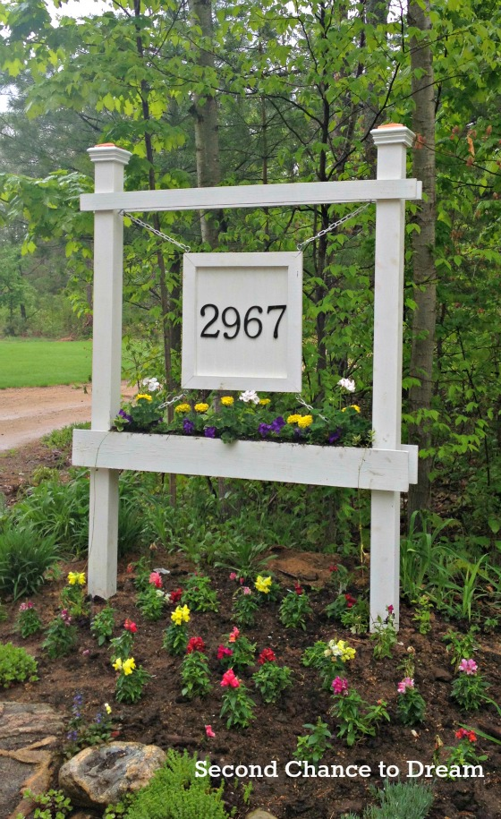 DIY House numbers- Post address sign