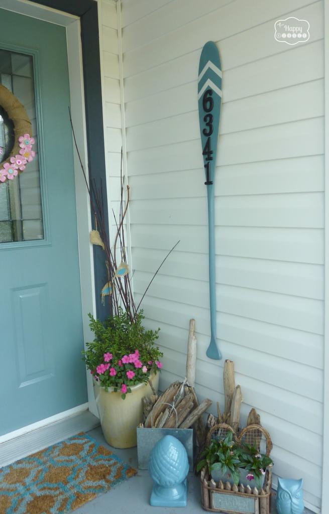 DIY House numbers- Vintage paddle sign