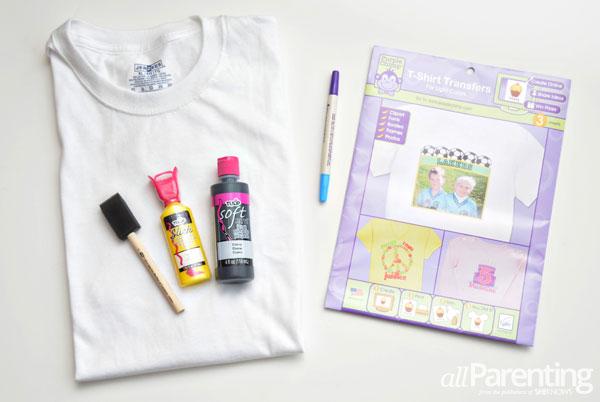 allParenting DIY race track t-shirt supplies