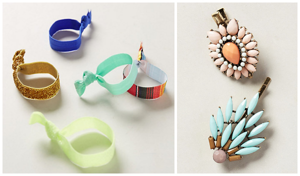 Summer hair accessories- Low and side ponytails