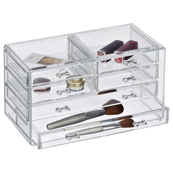 Wonderful Makeup Storage  Clear Makeup Chests With Drawers