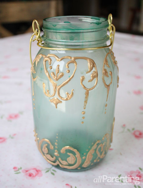 allParenting diy mason jar lantern