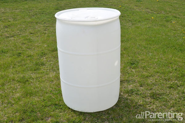 allParenting DIY rain barrel step 1
