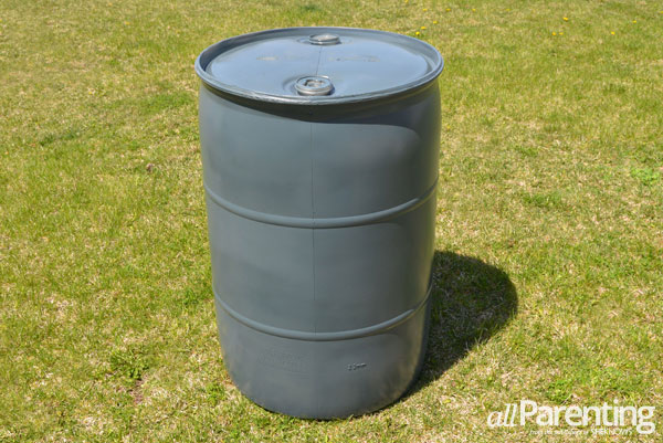 allParenting DIY rain barrel step 2