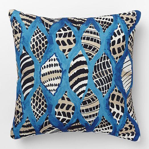 Shell decor- Outdoor shell pillows