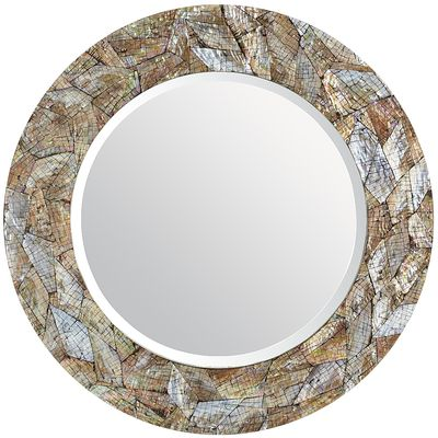 Shell decor- Round mirror
