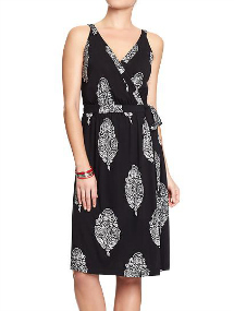 Summer sundresses- Printed cross-front dress