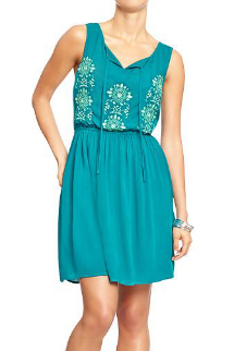Summer sundresses- Embroidered gauze dress
