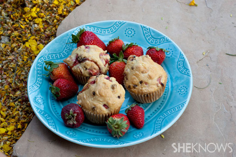 Strawberry almond milk chocolate muffins recipe