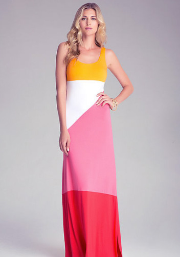 Shop the look: BeBe Colorblock Maxi Dress (bebe.com, $98)