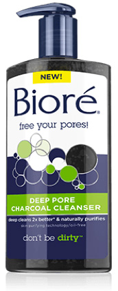 Biore's Deep Pore Charcoal Cleanser