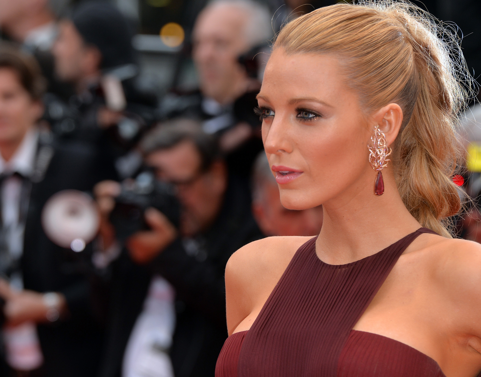 Blake Lively at Cannes Film Festival in 2014 wearing Gucci