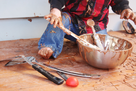The start of a little baker