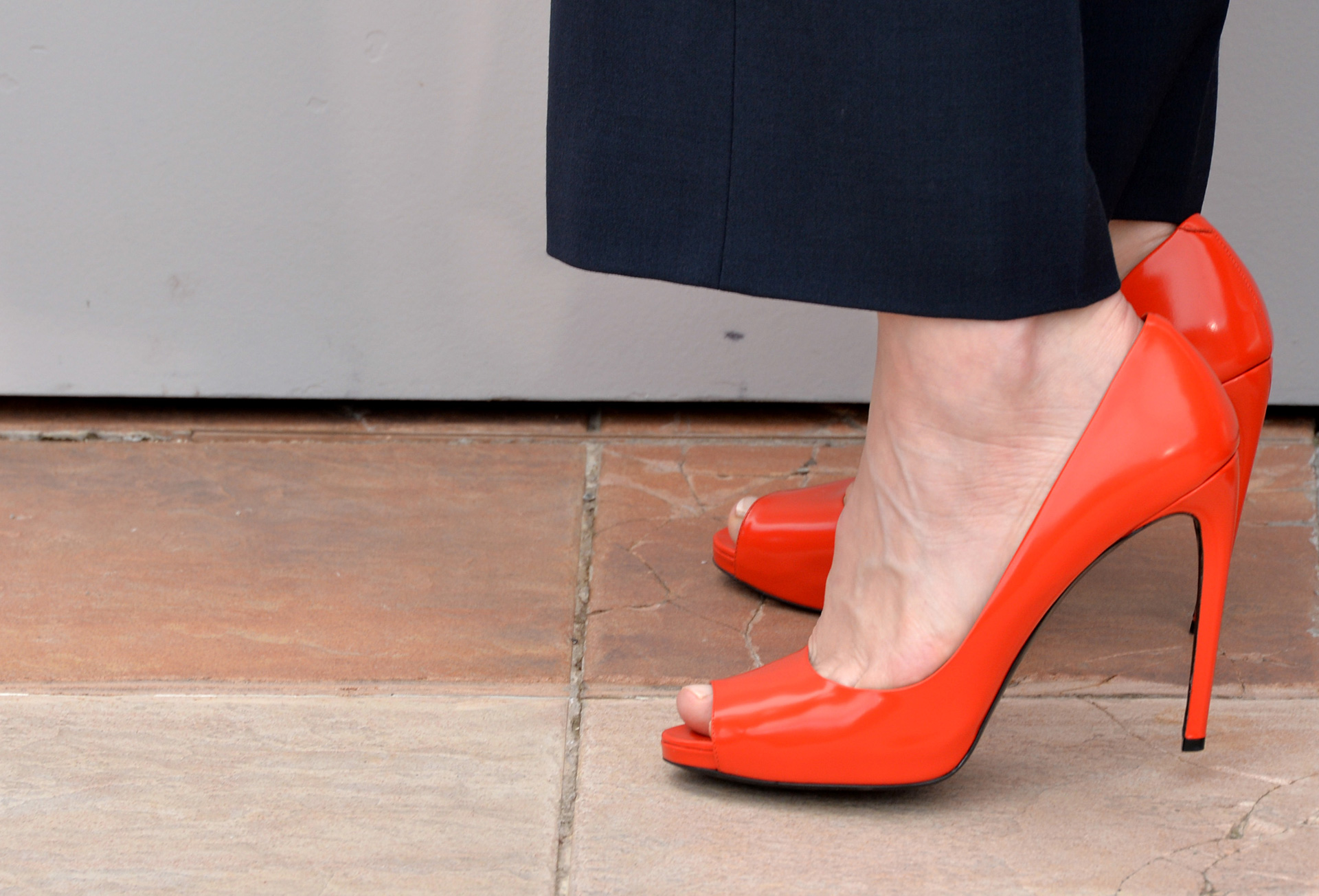 Cate Blanchett at the Cannes FIlm Festival wearing peep toe shoes