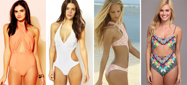 Cutout swimsuits