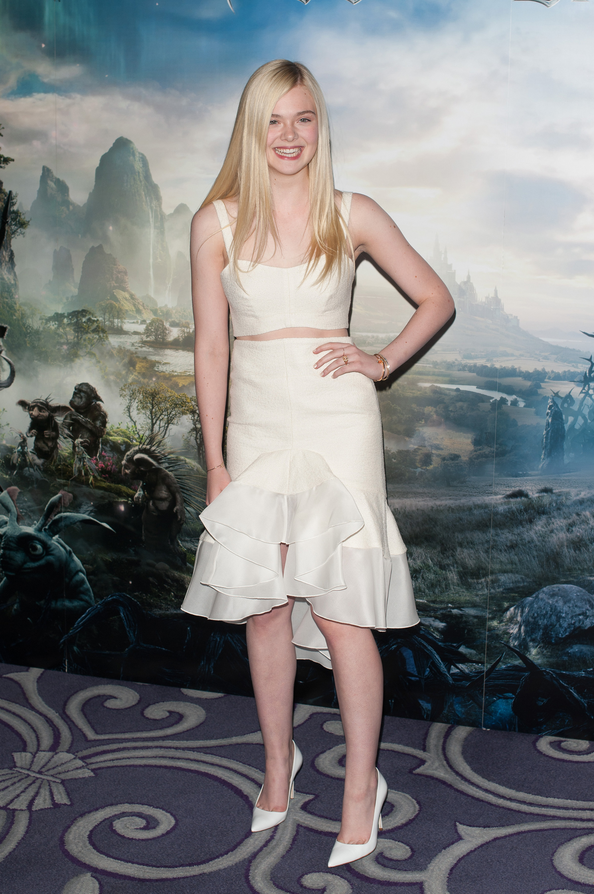 Elle Fanning at Maleficent photo call