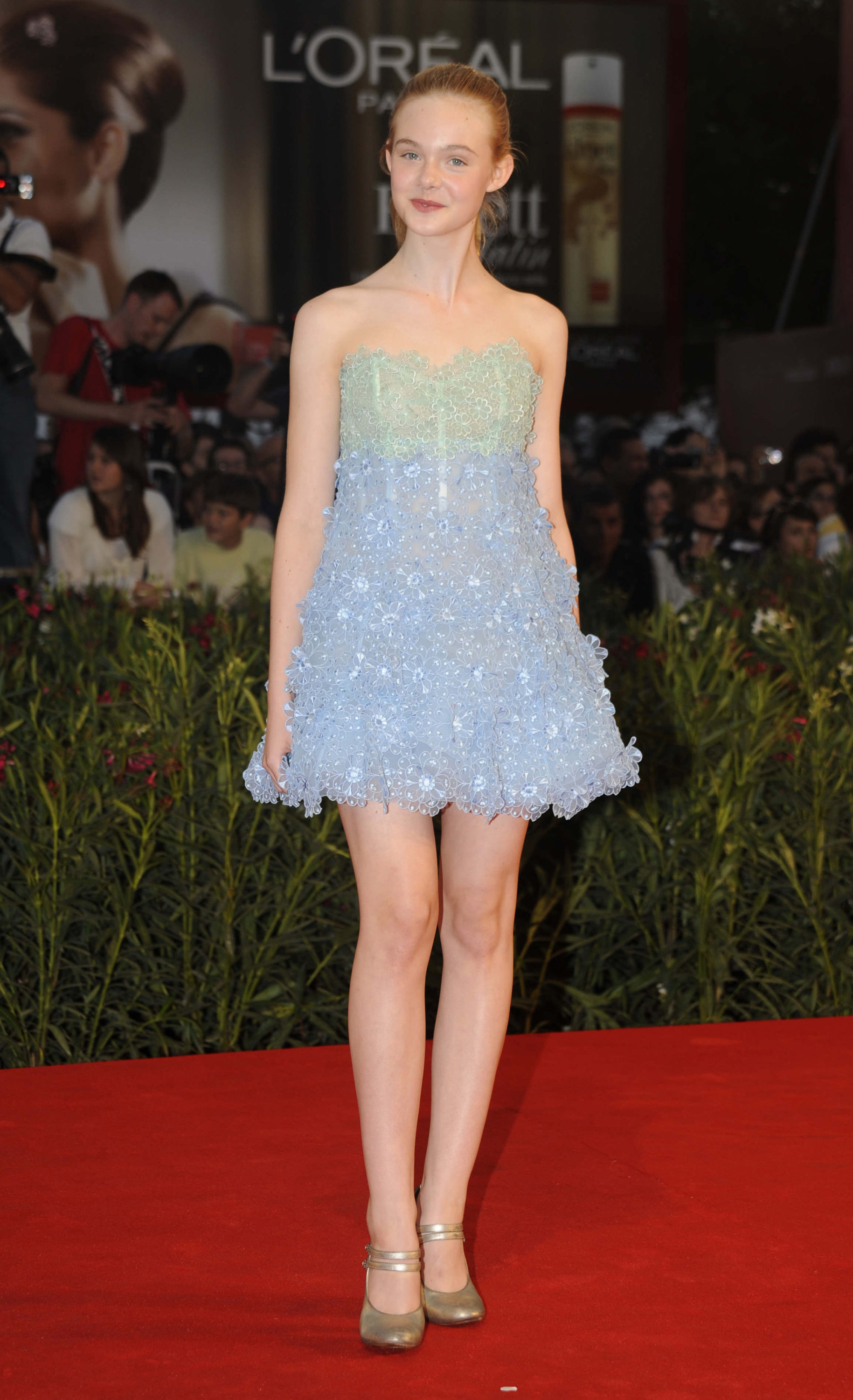 12 year old Elle Fanning at the Venice Film Festival